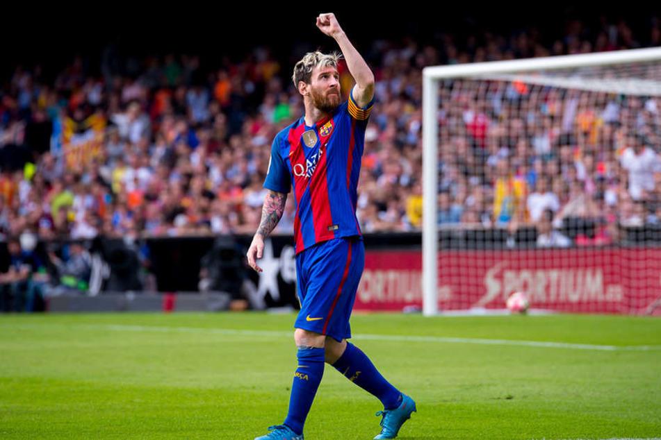 So kennt man ihn: Lionel Messi triumphiert nach einem Tor. Bildquelle