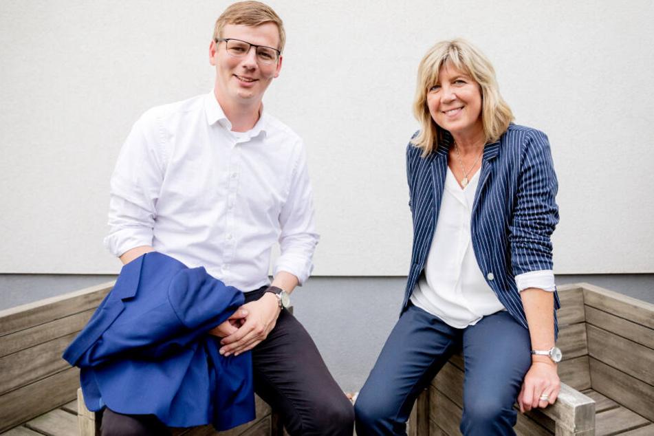 Kathrin Dannenberg und Sebastian Walter sind beide Spitzenkandidaten der Linken bei der brandenburgischen Landtagswahl 2019.