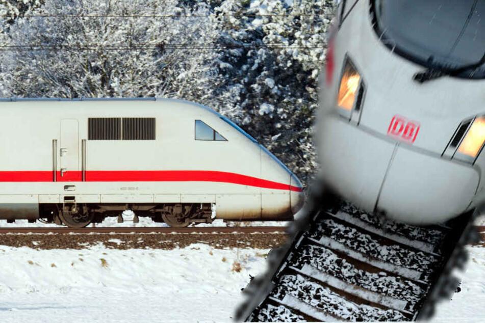 Damit konnte echt keiner rechnen! Deutsche Bahn fährt wegen Schnee langsamer