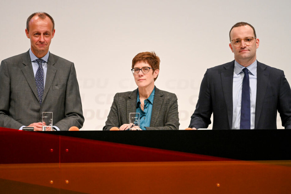 (V.li.) Merz, Kramp-Karrenbauer und Spahn werden in Seebach erwartet.