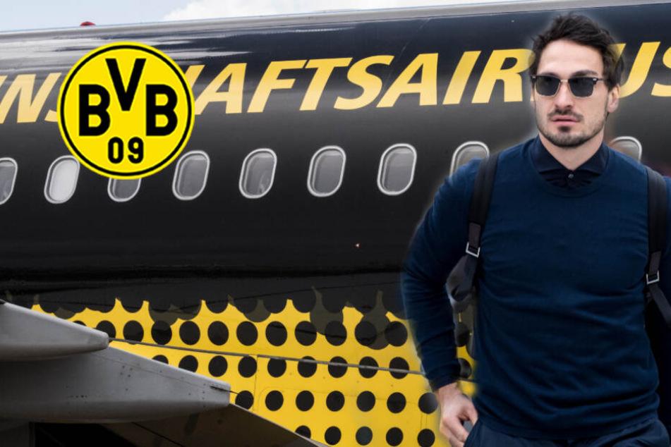 BVB-Profis mit Schrecksekunde im Flugzeug! Probleme bei der Landung
