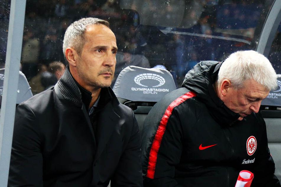 """Eintrachts Trainer Adi Hütter bezeichnete die Niederlage seiner Mannschaft als """"unverdient""""."""