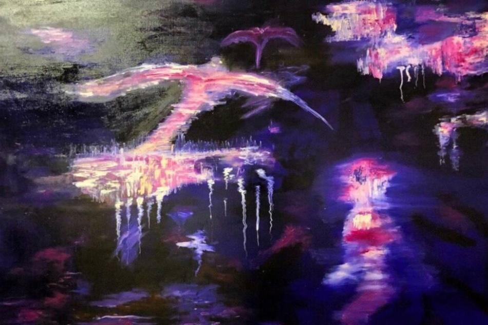 Wer hat das Gemälde gesehen? Mit dem Überwachungsvideo will die Künstlerin mögliche Zeugen und Hinweise finden.