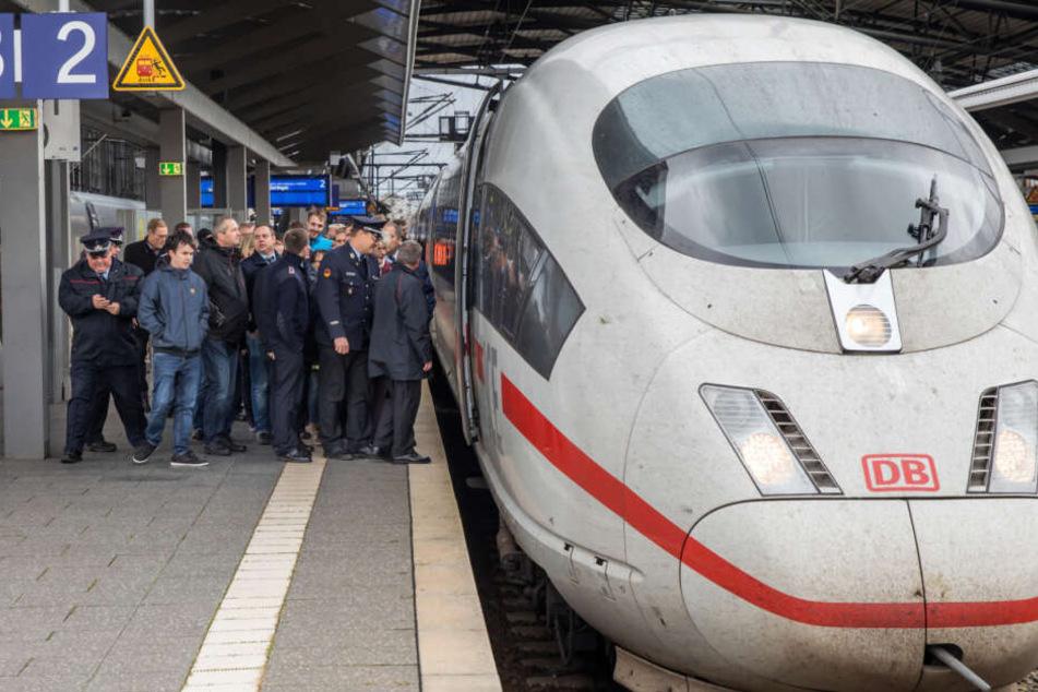 ICE kommt qualmend im Erfurter Hauptbahnhof an und sorgt für Chaos