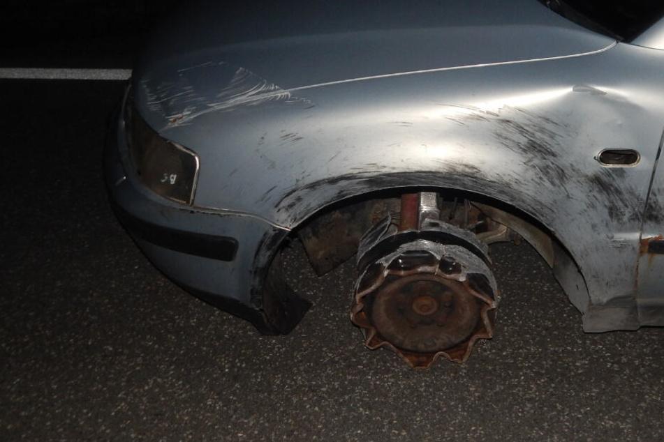 Der Fahrer hielt erst an, als es gar nicht mehr ging.