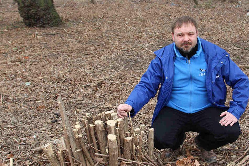 Leipzigs NABU-Vorsitzender René Sievert (45) ist empört über den rücksichtslosen Eingriff in die Natur.