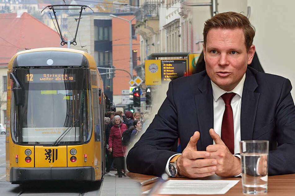 Dresden: Parkplätze und Lärm: Bürgerfraktion will neue Tram zum Blauen Wunder stoppen