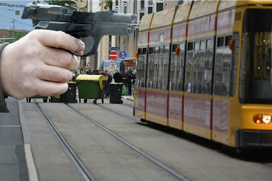 Am Donnerstagmorgen richtete ein Mann eine Pistole auf eine 30 Jahre alte Frau.