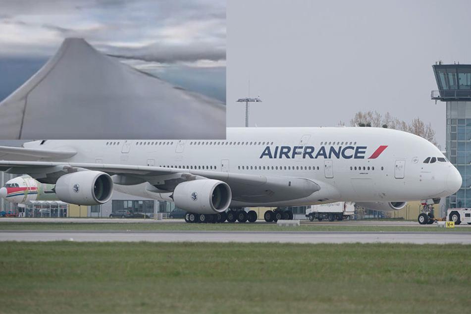 Passagier filmte aus dem Fenster: Treibstoffleck zwingt Flugzeug zur Notlandung