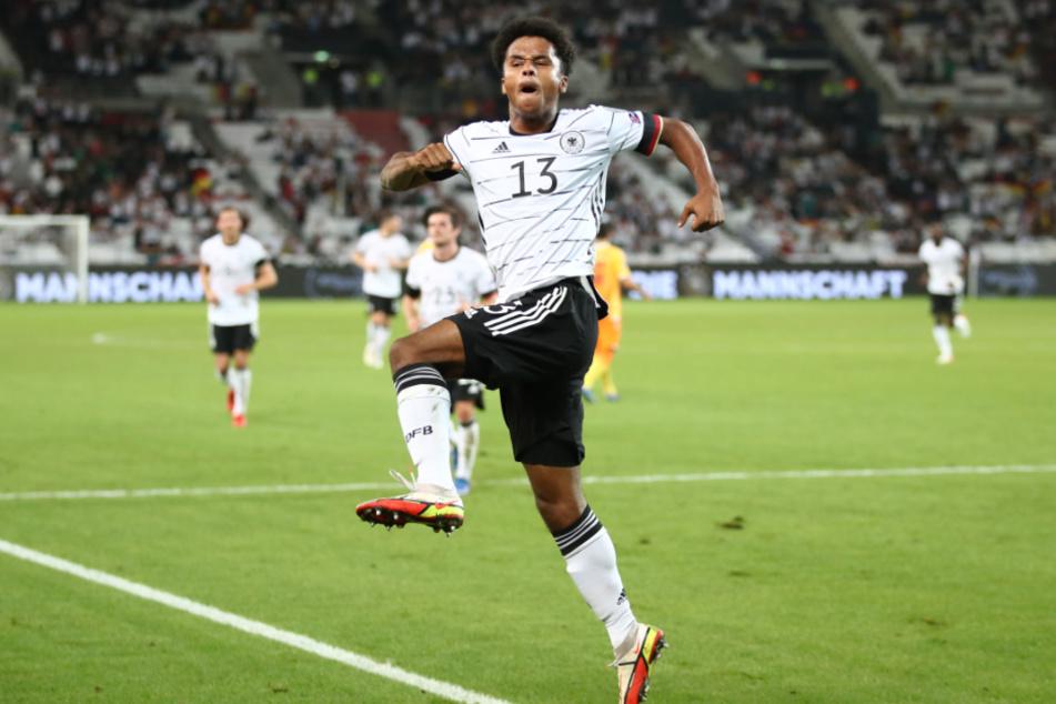 Karim Adeyemi (19) feiert einen Traumeinstand bei der Nationalmannschaft.