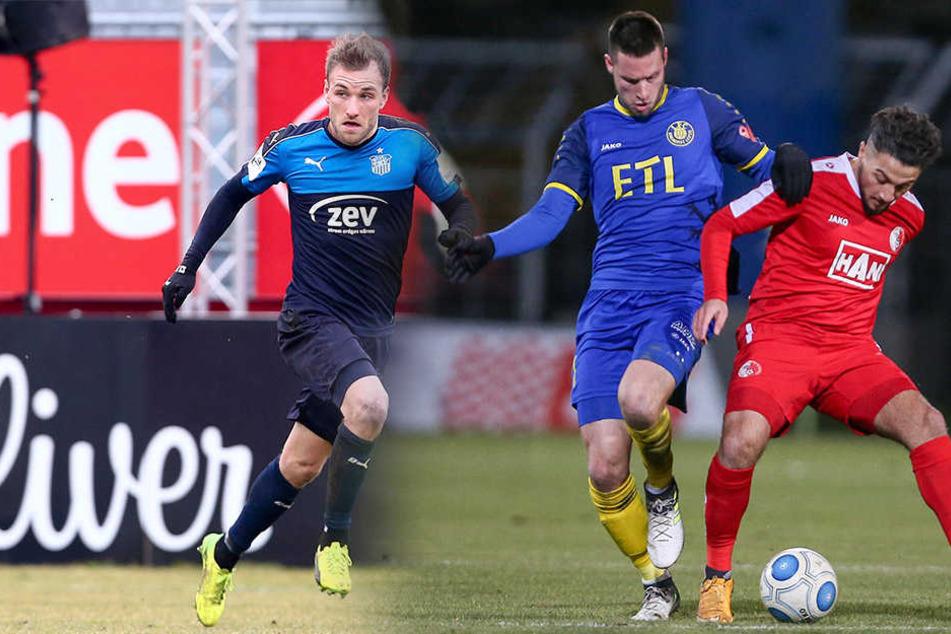 Der FSV Zwickau und Lok Leipzig treffen am Dienstag in Naunhof aufeinander.