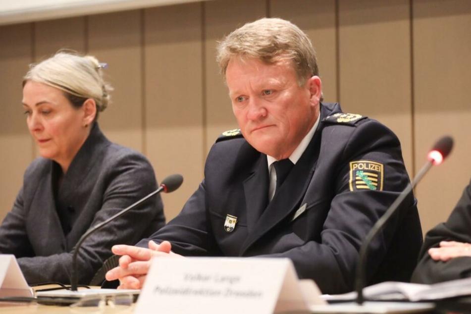 Dresdens Polizeichef Jörg Kubiessa und Dr. Marion Ackermann, Generaldirektorin der Staatlichen Kunstsammlungen.
