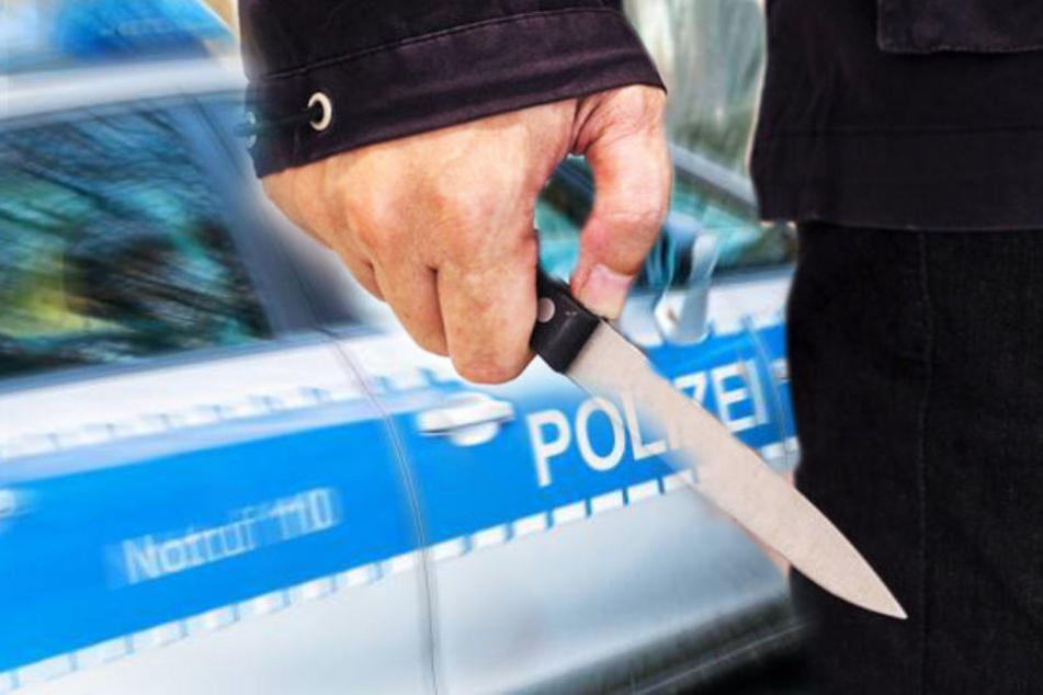 Mann mit Messer in Wirbelsäule gestochen