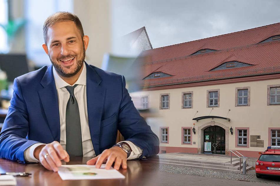 Blickt tatendurstig auf 2018: Oberbürgermeister Jesko Vogel (43, Freie Wähler) kündigt Million-Investitionen für Limbach-Oberfrohna an.