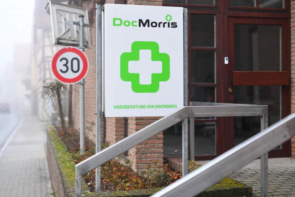 Ein Docmorris-Schild.