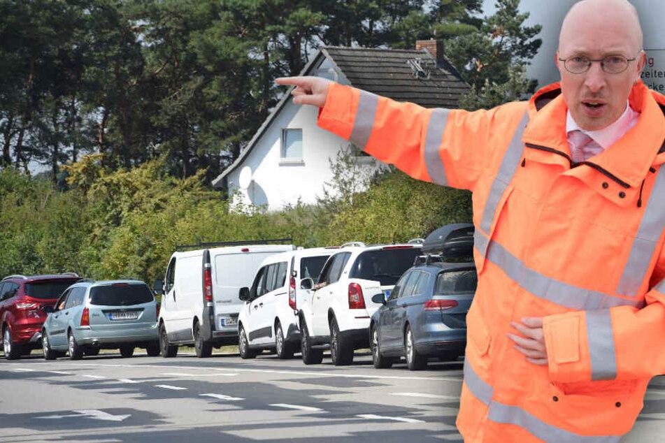 Pegel verspricht den Usedomern Entlastung, doch ist die Insel dem Verkehrsanstieg gewachsen? (Bildmontage)