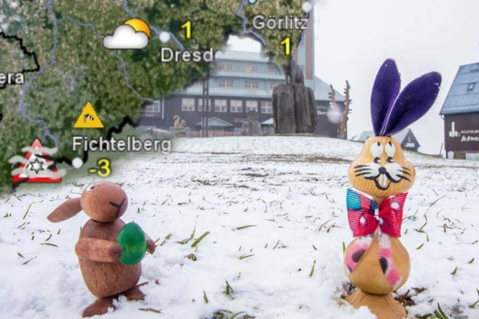 Schnee zu Ostern? Meteorologen warnen vor Frost und Glätte in Sachsen