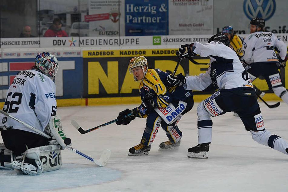Die Lausitzer Füchse nutzten ihre Chance und gewannen 3:0.
