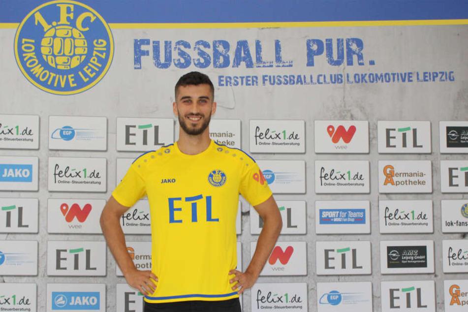 Sturmtalent Milan Senic (21) wechselt zur neuen Saison zu Lok Leipzig.