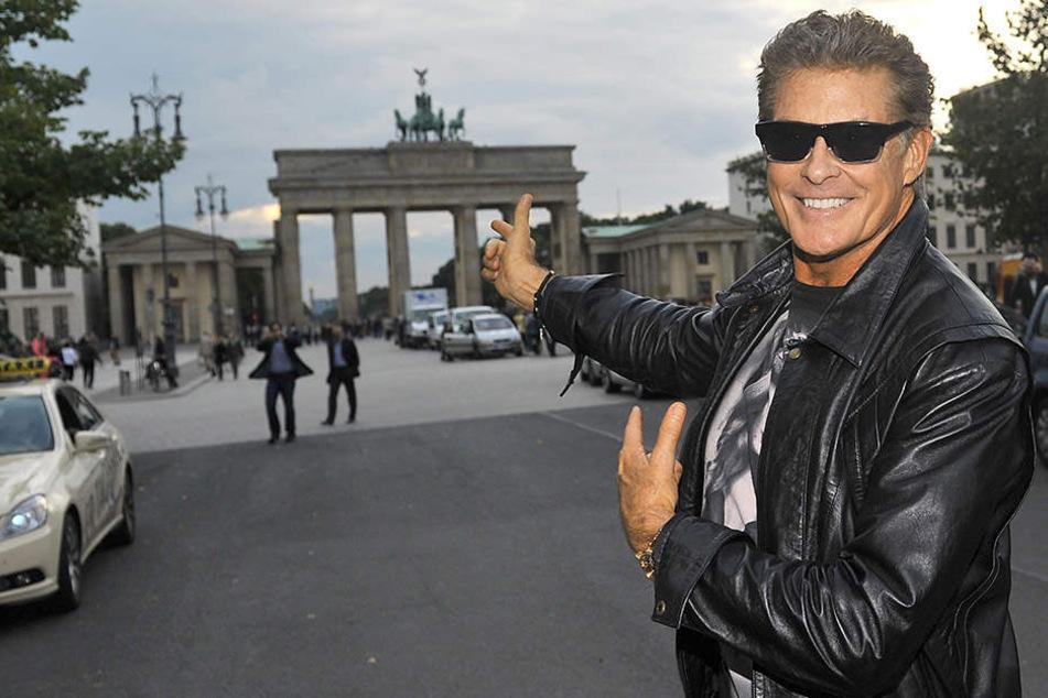 Hier hatte Hasselhoff 1989 seinen berühmten Auftritt vor der Berliner Mauer.