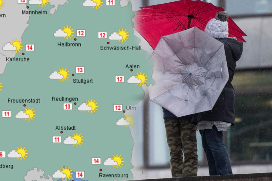 Schön wird das Wetter erstmal nicht. (Fotomontage)