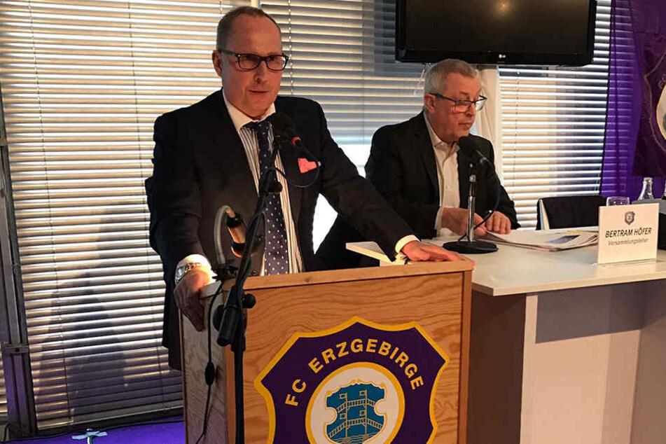 Präsident Helge Leonhardt bei der Mitgliederversammlung am Samstag.