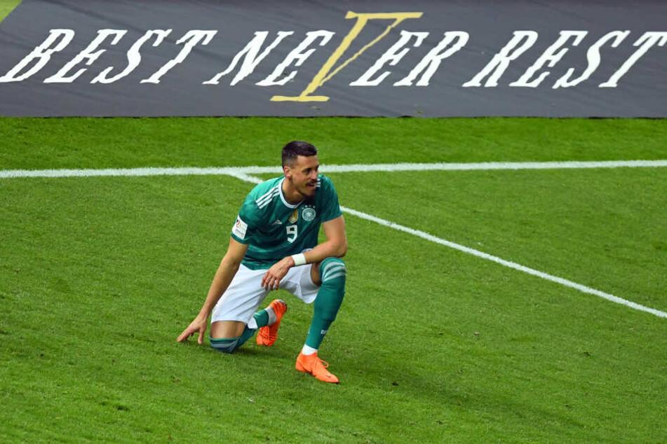 Der 30-Jährige spielte acht Mal im Trikot des DFB und schoss dabei fünf Tore.
