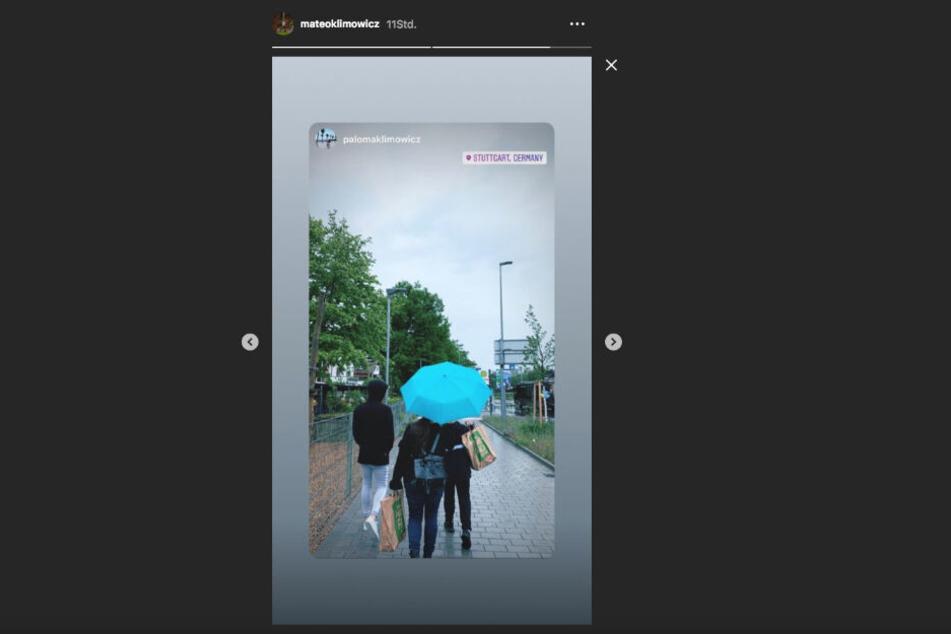 Kurz vor Wechsel zum VfB: Klimowicz postet auf Instagram ein Bild aus dem verregnetem Stuttgart.
