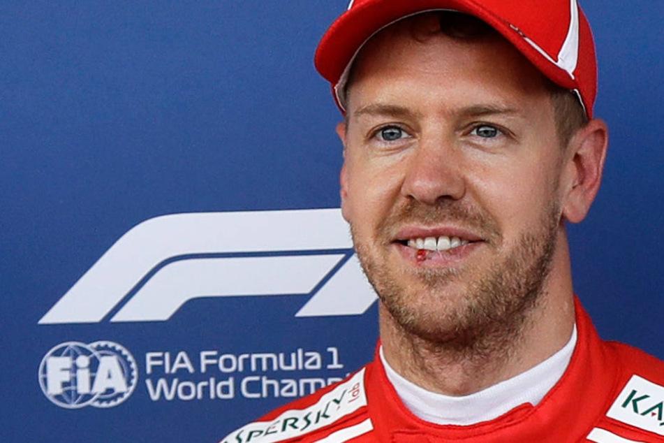 Sebastian Vettel (Archivbild) macht aus seiner Begeisterung für Eintracht Frankfurt keinen Hehl.