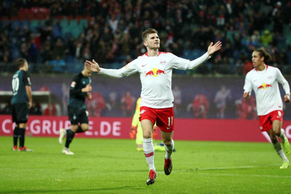 In 102 Pflichtspielen für RB Leipzig bringt es Werner auf 55 Tore und 20 Vorlage - eine starke Ausbeute.