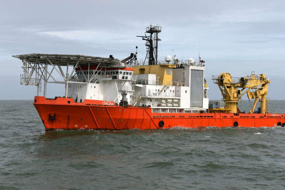 Das Bergungsschiff Atlantic Tonjer hat das Wrack in der Nordsee entdeckt.