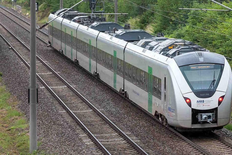 In einem Zug, der in Richtung Freiberg unterwegs war, belästigten zwei Männer Frauen und griffen sie mit Pfefferspray an. (Archivbild)
