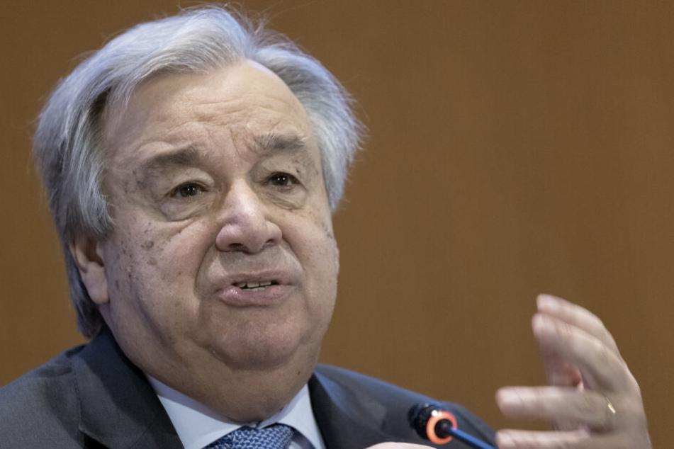 """UN-Generalsekretär António Guterres: """"Wir leben in gefährlichen Zeiten."""""""