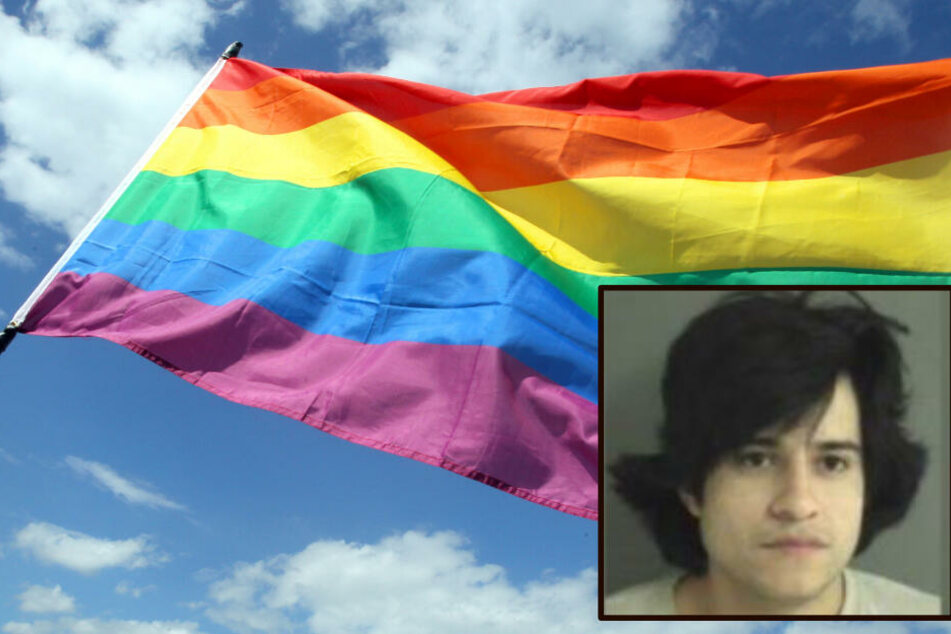 Er zündete eine Regenbogenflagge an: Mann muss für mehrere Jahre hinter Gitter!