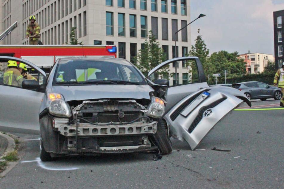 Der Toyota der Kölnerin wurde schwer beschädigt.