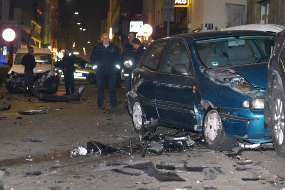 Die Unfallstelle in Mannheim im Januar 2017.