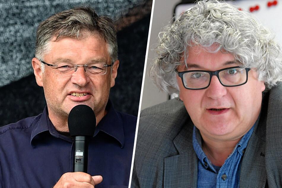 Für Holger Zastrow (52, FDP, l.) beschädigt das Vorgehen der Initiatorinnen das Miteinander im Stadtrat. Tilo Kießling (50, Linke, r.) bemängelt bei der Initiative fehlende Wertschätzung für die Stadtratskollegen.
