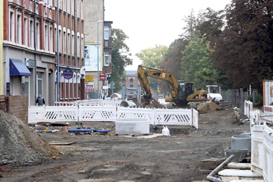 Auch in der Zwickauer Straße wird gebaut.
