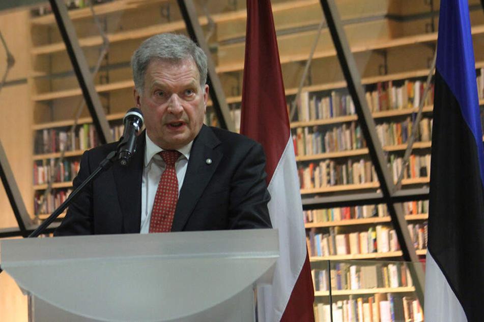 Der finnische Präsident Sauli Niinistö äußerte sich bereits zu den Gewaltdelikten.