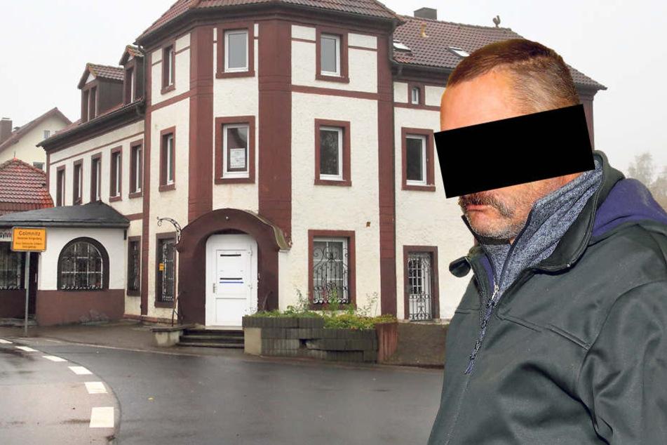 In der Dachgeschosswohnung dieses Hauses in Klingenberg verendeten die Katzen. Ingolf T. (46) taucht immer wieder wochenlang ab, leidet an Depressionen und  einem Alkoholproblem.