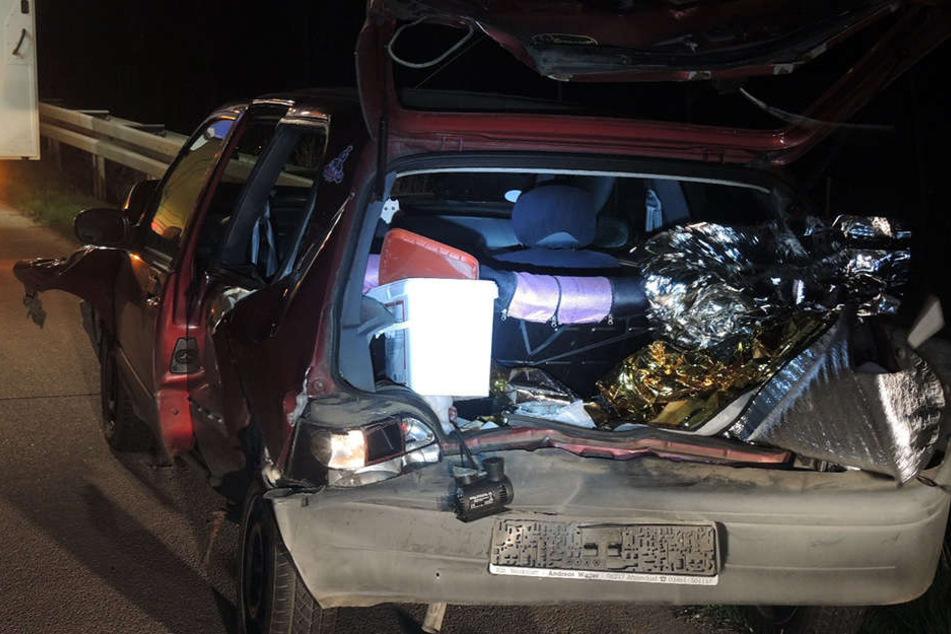 Die beiden Autos waren nach dem Auffahrunfall nicht mehr fahrtauglich.