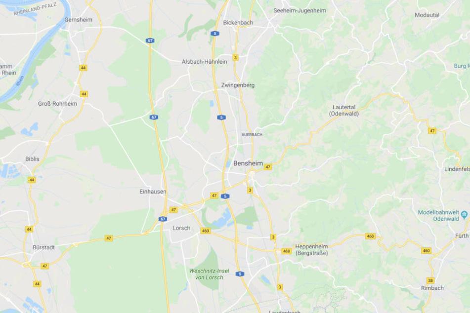 Der Vorfall ereignete sich in Bensheim.