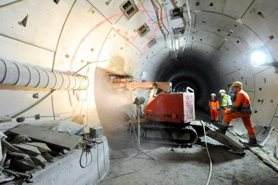 So ähnlich wie beim Bau der U4 in die Hafencity im Jahr 2010 wird die U5-Baustelle unter der Erde auch aussehen.