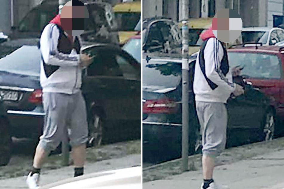 Mit diesen Fotos fahndete die Polizei nach dem Mann.