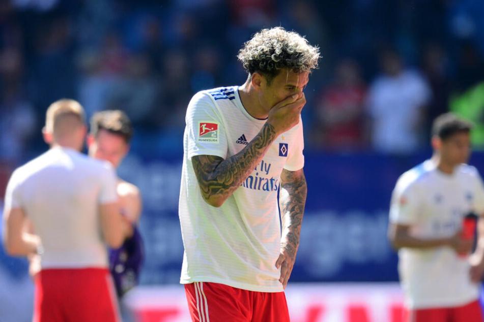 Abwehrspieler Leo Lacroix zeigte sich über das 1:1-Unentschieden gegen Erzgebirge Aue nach Abpfiff fassungslos.