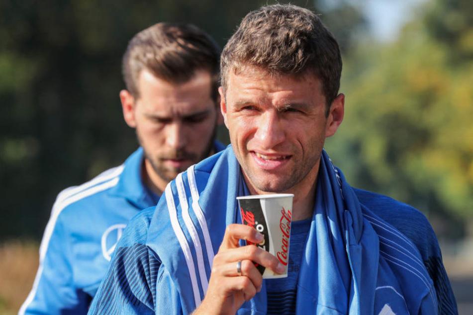 Thomas Müller blickt auch mit der Nationalmannschaft weiter nach vorne.