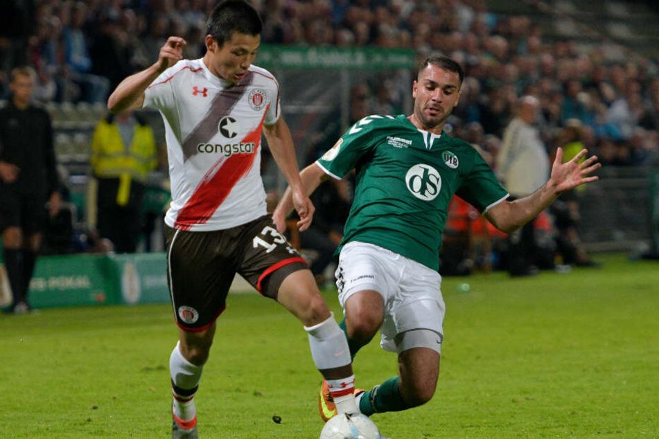 Vor drei Jahren setzte sich der FC St. Pauli mit Ryo Miyaichi gegen den VfB Lübeck mit 3:0 durch.
