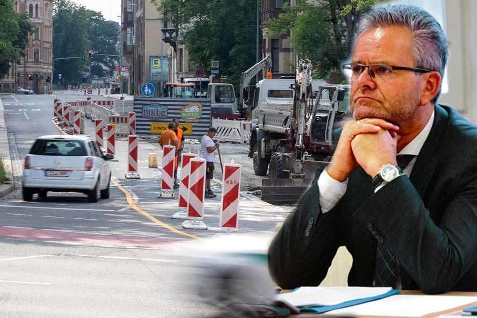 Baustellen-Wahnsinn in Chemnitz geht in die nächste Runde