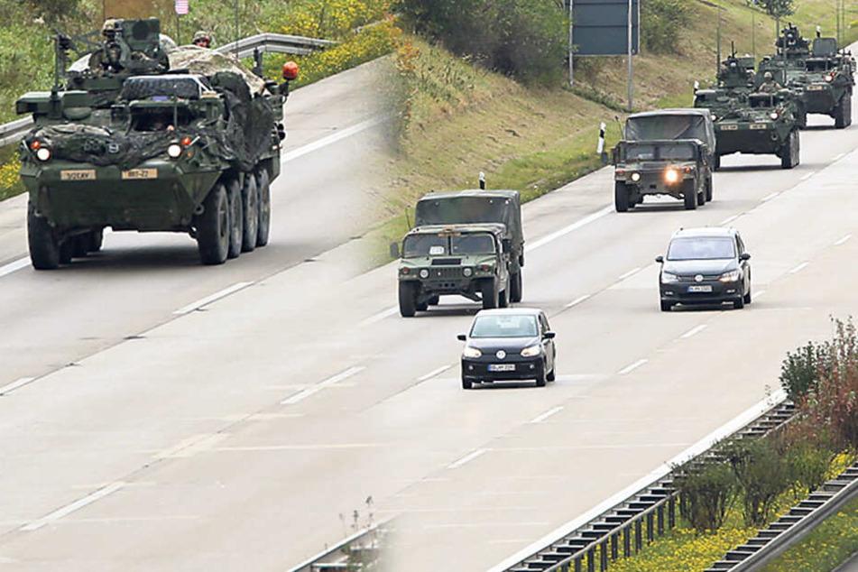 Schon wieder! US-Army schickt Panzer nach Sachsen