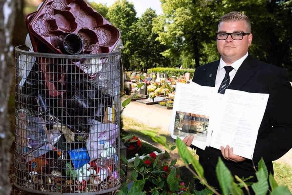 Anwohner sauer auf Stadt: Purer Geiz lässt Friedhof vergammeln